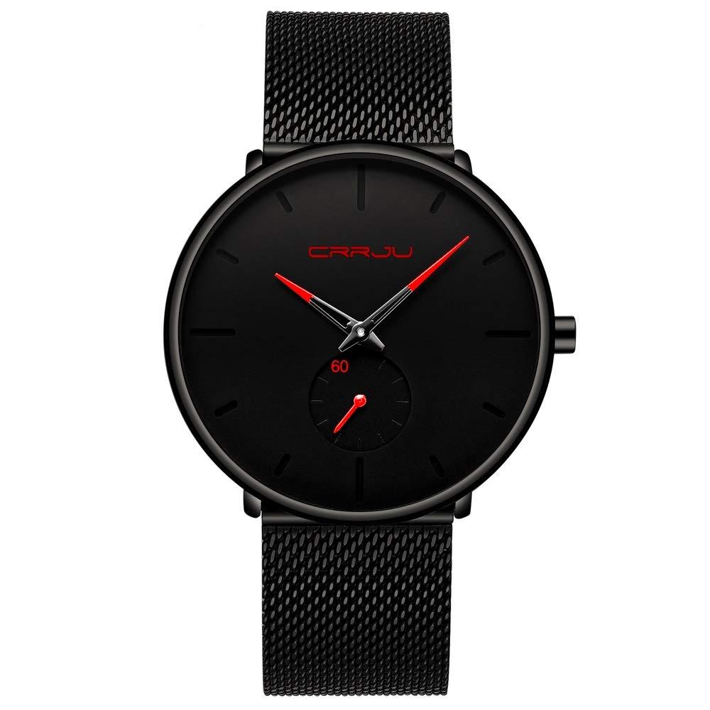 FIZILI - Reloj de Pulsera para Hombre, Ultra Fino, Minimalista, Moderno, Lujoso