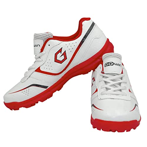 GOWIN Academy White/Red Cricket Shoes