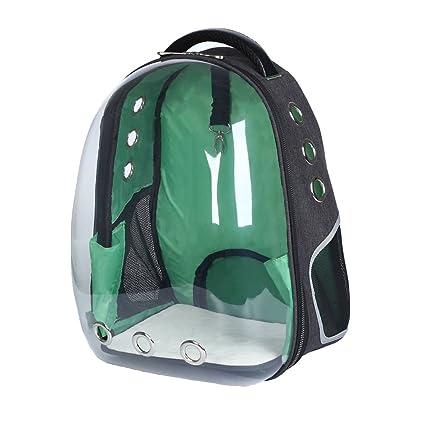 Mochila Verde Transparente Space Capsule Respirable ...