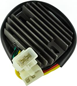 Rareelectrical NEW VOLTAGE REGULATOR COMPATIBLE WITH RECTIFIER HONDA VTX1800 2002 2003 2004 2005 2006 2007 2008 31600-MCJ-750 31600-MCH-000 31600MCJ750 31600MCH000