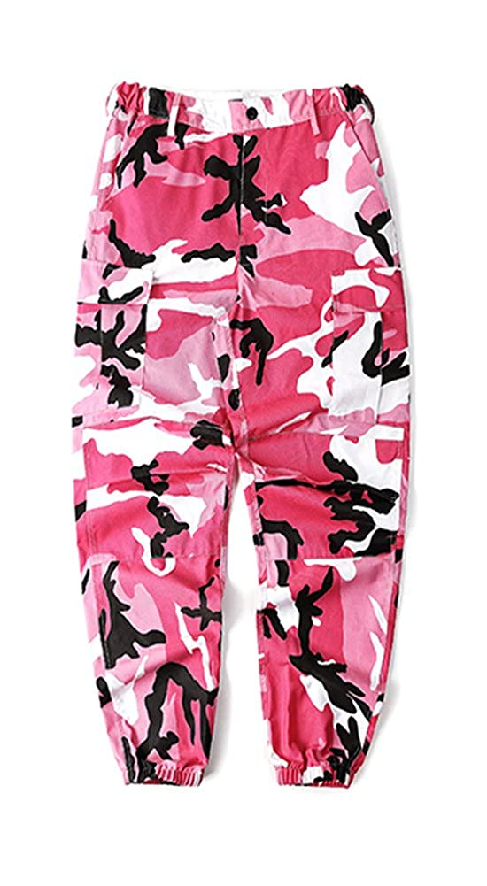 LifeShe Men's Casual Slim Fit Camo Jogger Cargo Pant