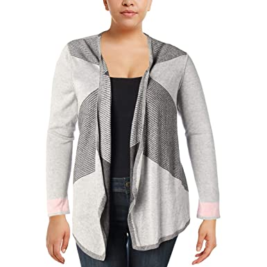 Niczoe Womens Plus Colorblock Open Front Cardigan Sweater At Amazon
