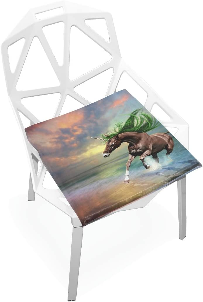Amazon Com Tsweethome Comfort Memory Foam Square Chair Cushion Seat Cushion With Brown Horse Unicorn Chair Pads For Hardwood Floors Dining Chairs Office Chairs Home Kitchen