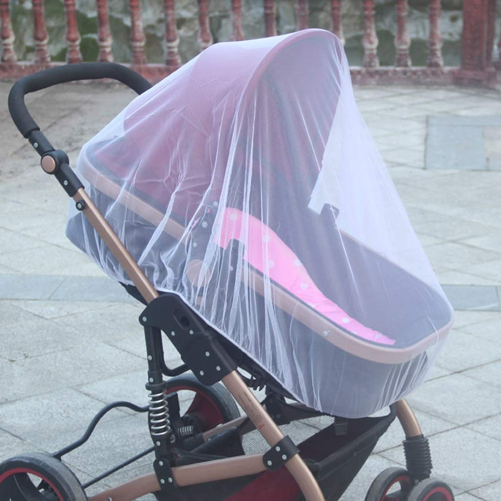 Bed Canopies & Drapes Infants Baby Stroller Pushchair Nets Safe Mesh Buggy Crib Netting Cart Pushchair Full Cover Netting Durable mattresses and curtains ( Color : Purple , Size : 27.55-59.05inchs ) by LQW HOME (Image #3)