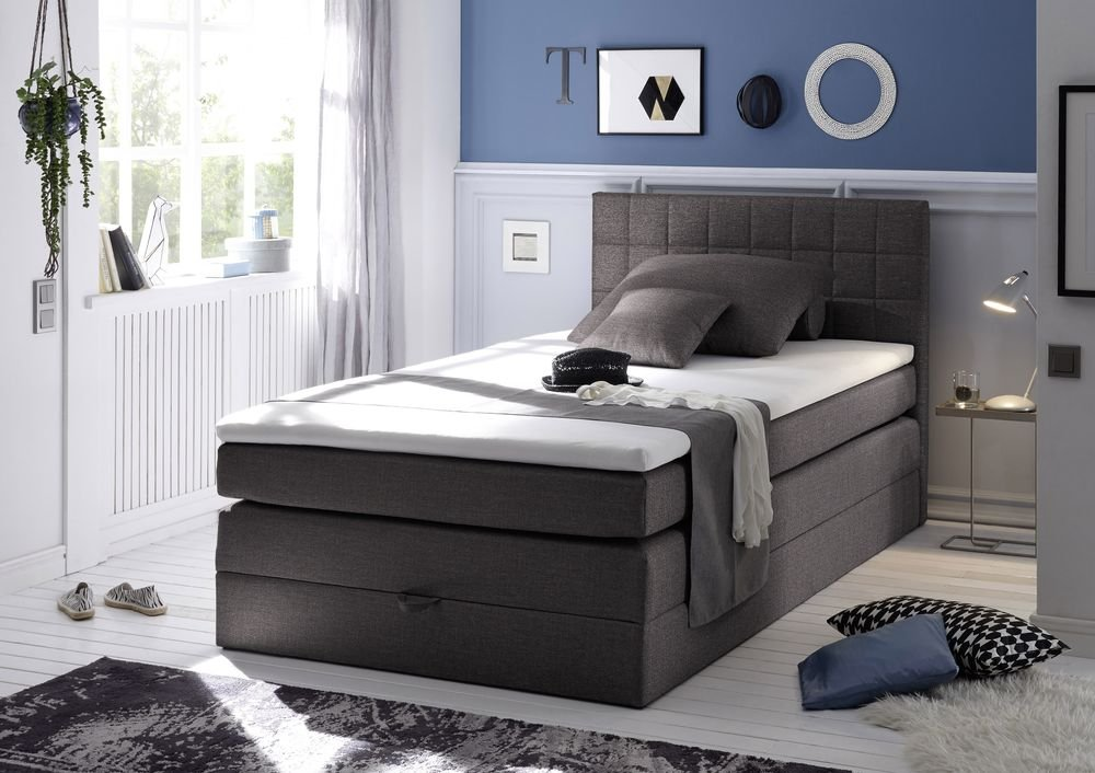 boxspringbett 140x200 mit bettkasten farbe soro. Black Bedroom Furniture Sets. Home Design Ideas