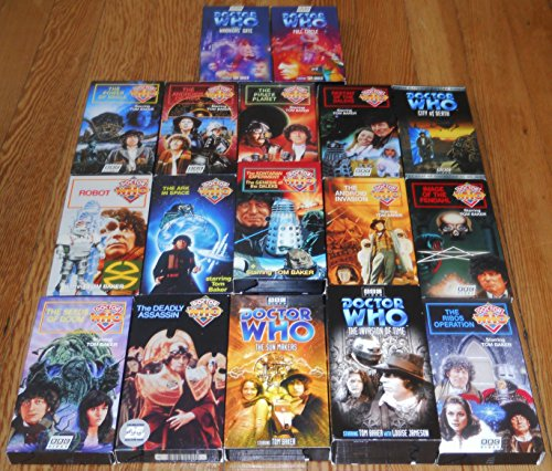 Doctor Who Tom Baker VHS Lot Seeds of Doom Deadly Assassin Warriors Gate Full Circle Sun Makers Time Warrior Image of Fendahl Android Invasion Robot Ark in Space Genesis of the Daleks City of Death + (The Deadly Assassin Doctor Who)