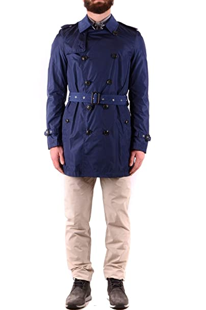 Burberry Luxury Fashion Hombre MCBI36633 Azul Trench Coat ...