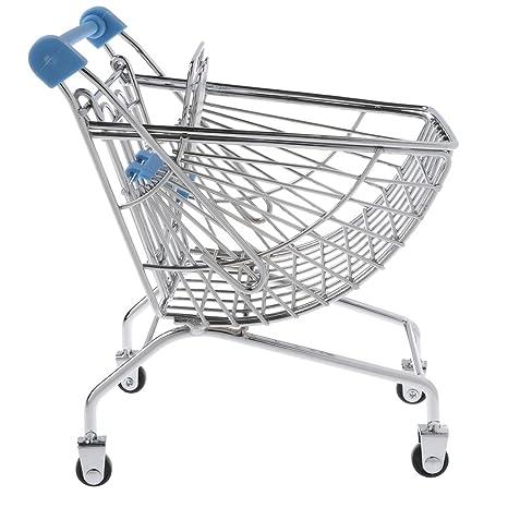 Homyl Mini Carrito de Compras de Metal de Supermercado Vendedor Muestra Pretender Juego para Niños -