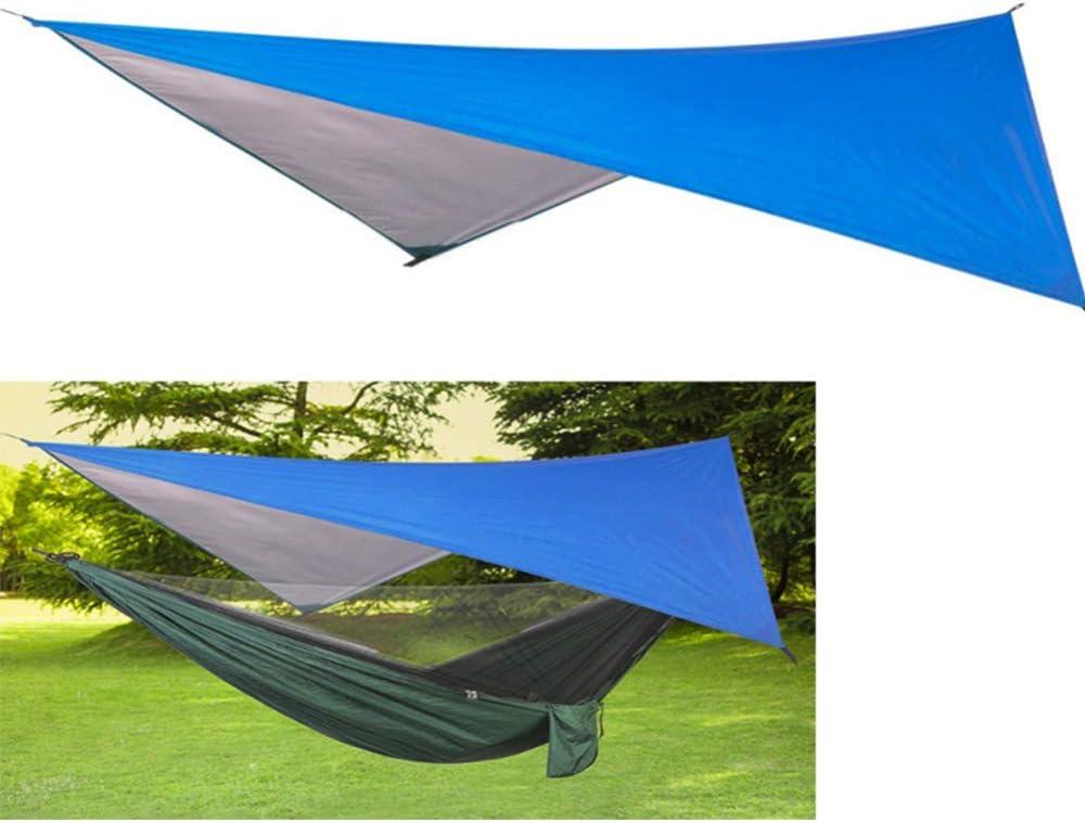 ZHENN hangmattentent Mutifunctionele Tarp Waterdichte Camping Picknick Zonnekap Shelter Duurzame Lichtgewicht Sneldrogende Shelter Canopy Blauw