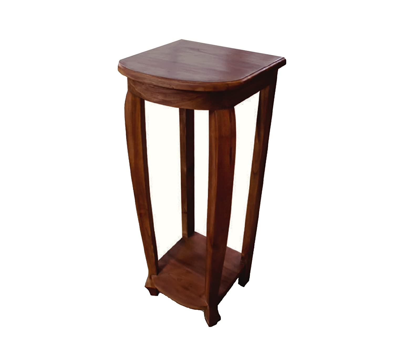 Amazon com nes furniture nes fine handcrafted furniture solid teak wood aurel lamp table end table 30 kitchen dining