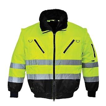 Portwest PJ50YBRXXL Hi-Vis 3in1 Pilot Jacket Yellow//Black 2X-Large