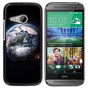 Paccase / SLIM PC / Aliminium Casa Carcasa Funda Case Cover - Design Earth From Space - HTC ONE MINI 2 / M8 MINI