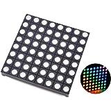 HiLetgo 8x8 Matrix RGB LED Common Anode Full Colour LED 60x60mm Colorduino Compatible for Arduino