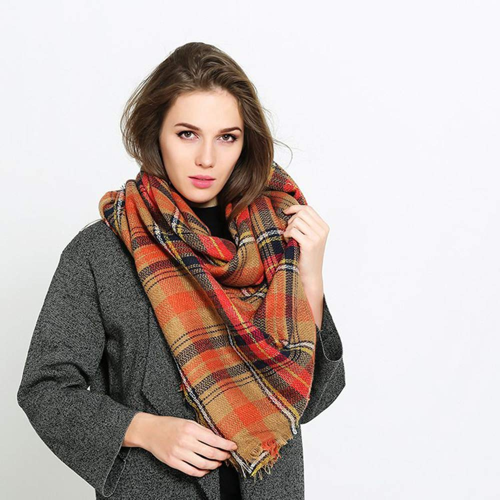 YHC Woman's Eternal Style Scarf, Classic Elegant Carpet Lattice Scarf by YHC (Image #5)