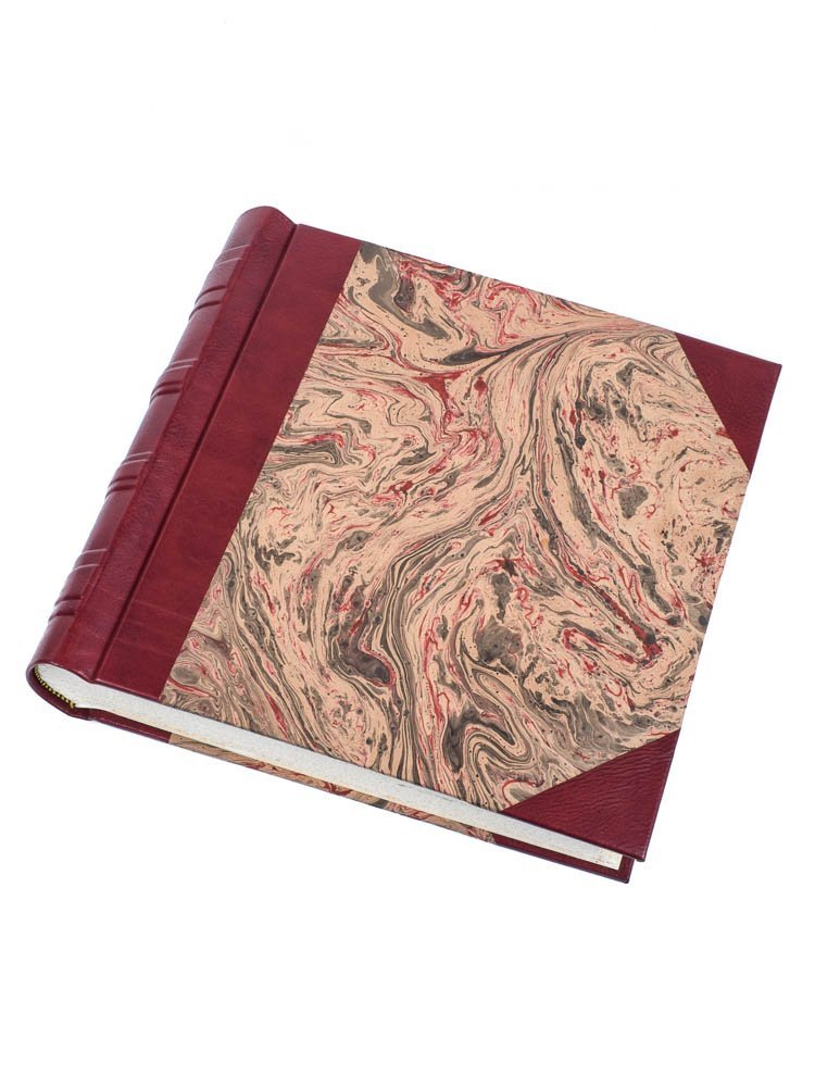 Burgandy marbled photo album