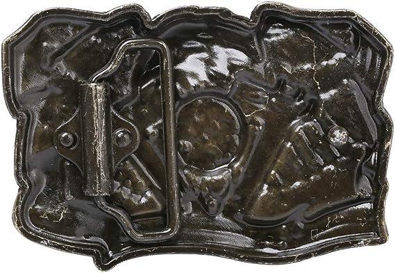 Cintura Fibbia Western Style Cowboy Aquila Pattern Accessorio Moda Per Pantaloni Casual