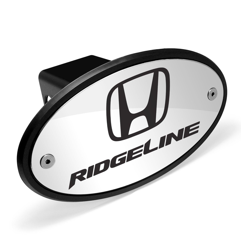 Honda Logo Ridgeline Chrome Metal Plate 2 inch Tow Hitch Cover by Honda