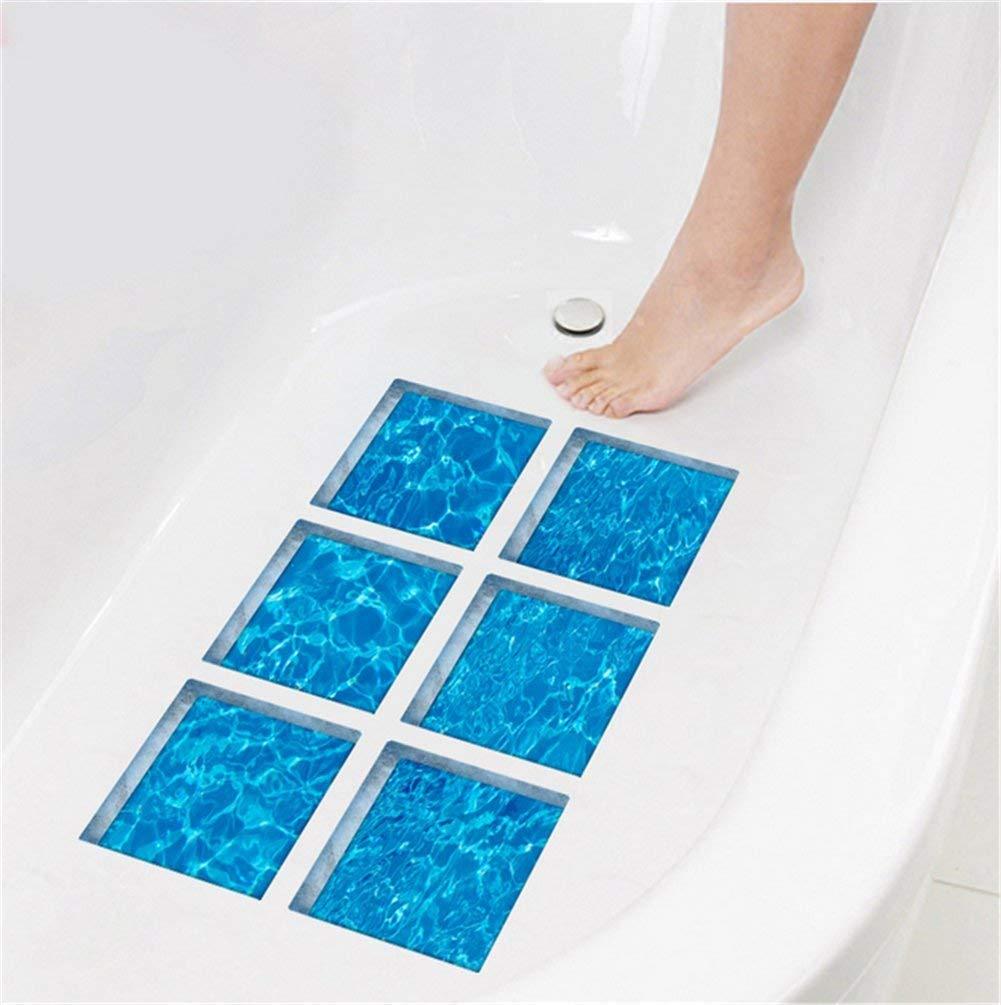 PVC Bathtub Stickers, Moonvvi 6pcs Creative 3D Tub Appliques Decals Vivid Non-slip Wall Stickers Tattoos (Forest) … Moonvvin