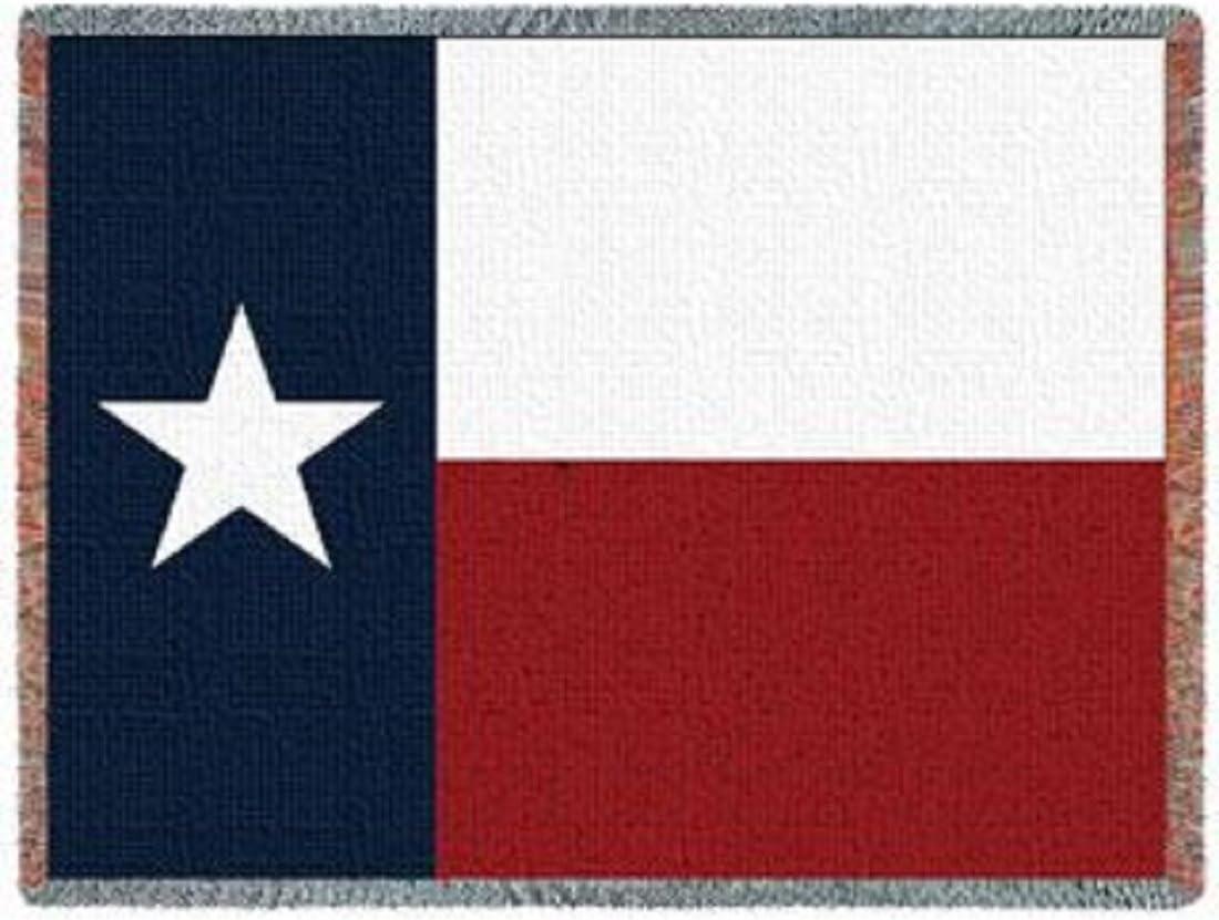Desconocido Bandera del Estado de Texas Tejido Jacquard Manta afgana: Amazon.es: Hogar