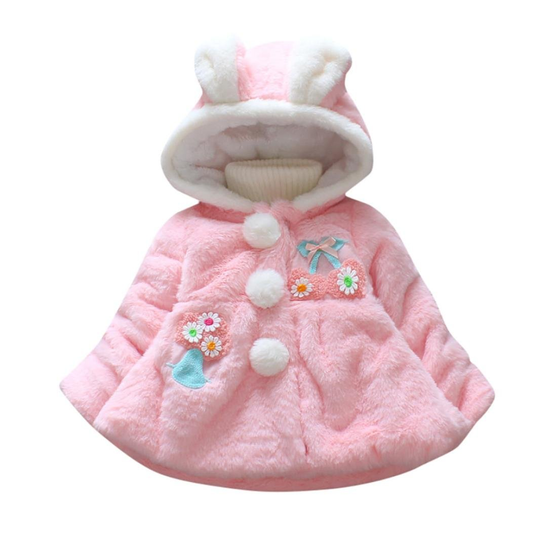 LNGRY Baby Infant Girl Autumn Winter Hooded Coat Cloak Jacket Thick Warm Clothes