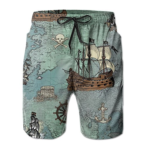 Summ Anchor Sailor Nautical Pirate Map Men Beach (Sailor Suits For Men)