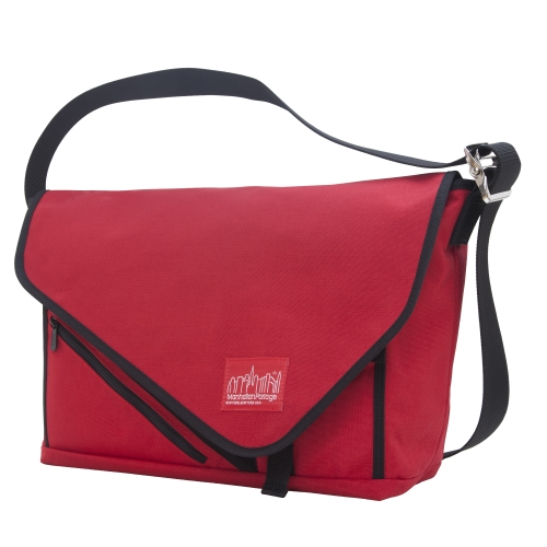 Manhattan Portage Flat Iron Messenger Bag, Large, Red/Red/Black