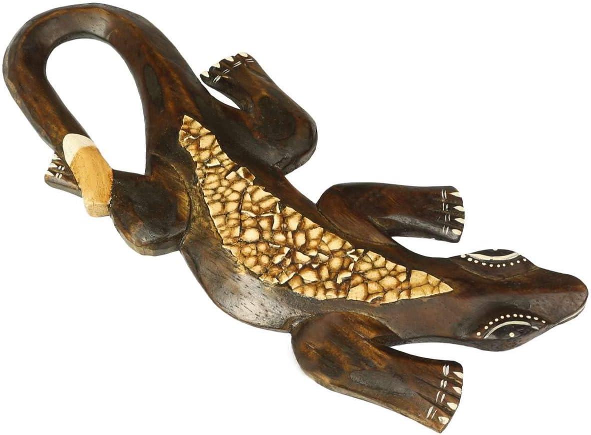 natur Holz Deko-Gekko MANIS wahlw Wandschmuck in 20 30 50 oder 100 cm