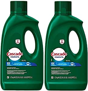 Cascade Complete Gel Dishwasher Detergent, Fresh Scent, 2 Packs of 45 Ounces
