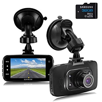 Senwow Cámara de Coche Full HD 1080P Dash Cam Gran Ángulo, G-Sensor,