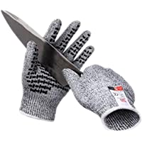 Professional Cut Resistant Gloves Grade 5 Non-Slip and Wear Resistant Gloves for Woodworking, Rotary Cutting, Kitchen…