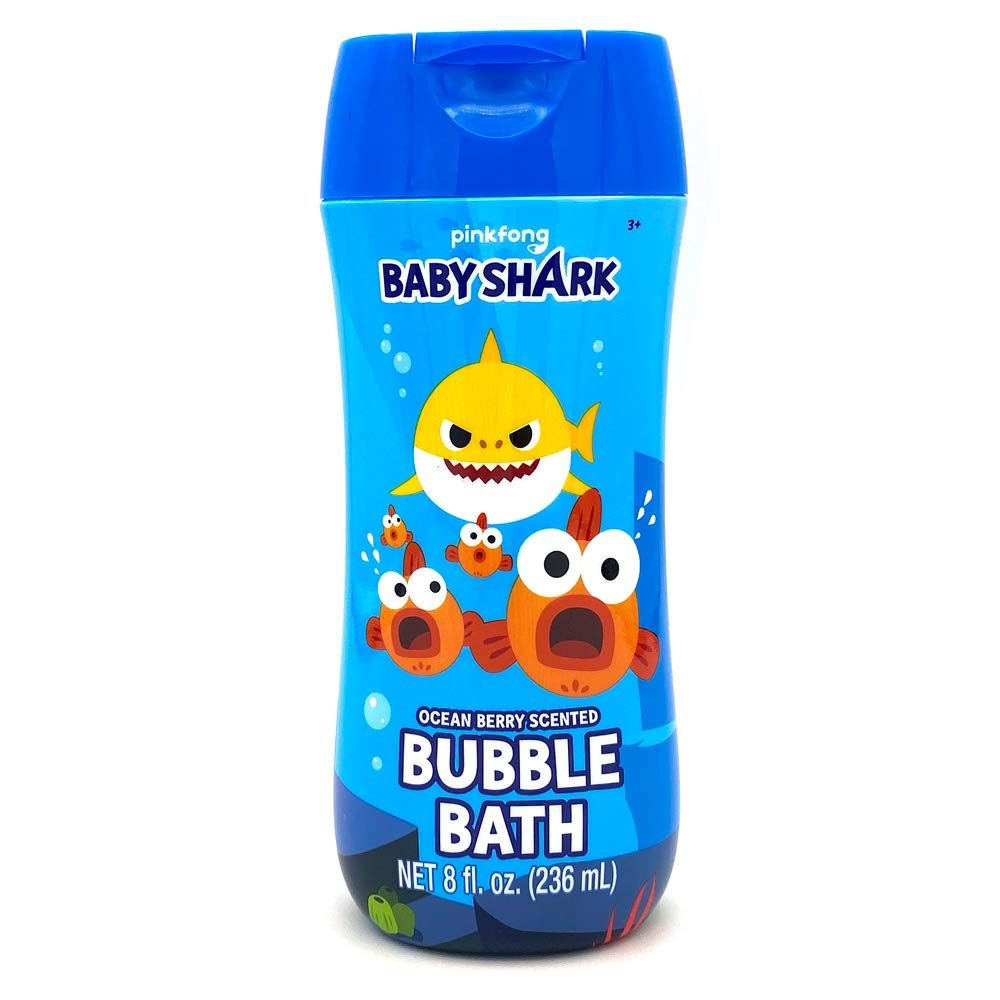 Baby Shark Bubble Bath 8 oz - Ocean Berry Scent and Non Toxic Parabens & BPA Free