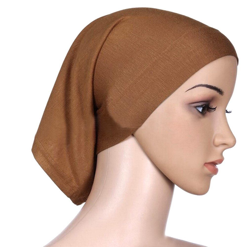 SZTARA Islamic Tube Cap Solid Colored Mercerized Cotton Chemo Head Scarf for Cancer Patients Calme