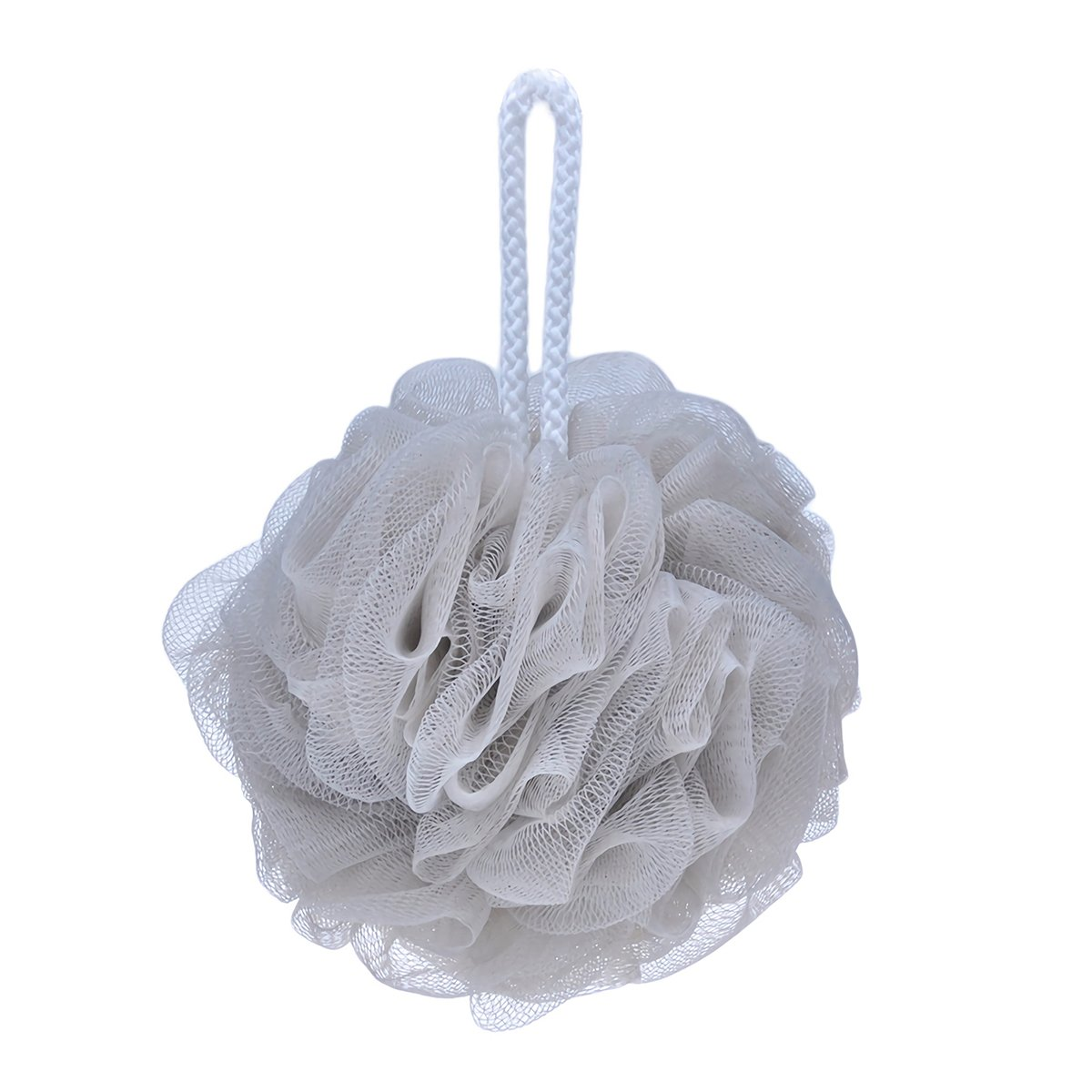 Bath Shower Sponge Loofahs With Soft Natural Loofah Bath Flower Bath Ball Scrubber Shower Puffs Body Cleaning Exfoliating Bath Shower Sponge Mesh (White) Suces