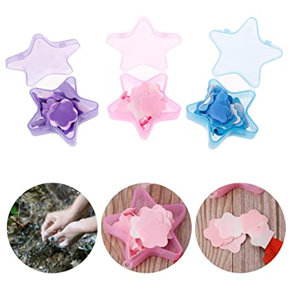 Beauty & Health Stars Shape Convenient Washing Cleaning Hand Paper Soap Anti-bacterial Portable Soap For Travel Camping Hiking Bath & Shower