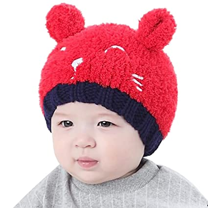 666bb6d0a Amazon.com  Eastlion Newborn Baby Hat Autumn And Winter 0-3-6-12-20 ...