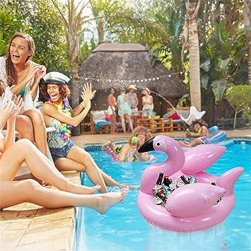 Cuckoo-X - Cubo de hielo hinchable Flamingo de 27 pulgadas ...