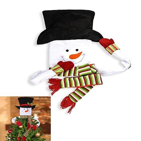 Christmas Top Hat Ornaments.Amazon Com Loveife Christmas Tree Topper Snowman Top Hat