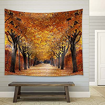 A Quiet Path with Goden Trees and Fallen Leaves, Created By a Professional Artist, Incredible Print