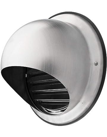 Klimapartner KWG 125 - Campana de Ventilación Redonda de Acero Inoxidable