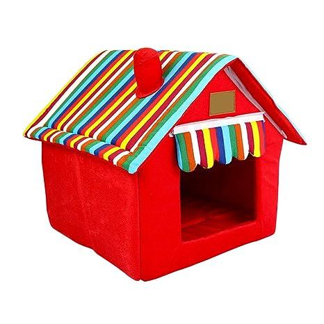 Cama Desmontable Portátil del Animal Doméstico Casero para los Pequeños Perros y los Gatos Talla L