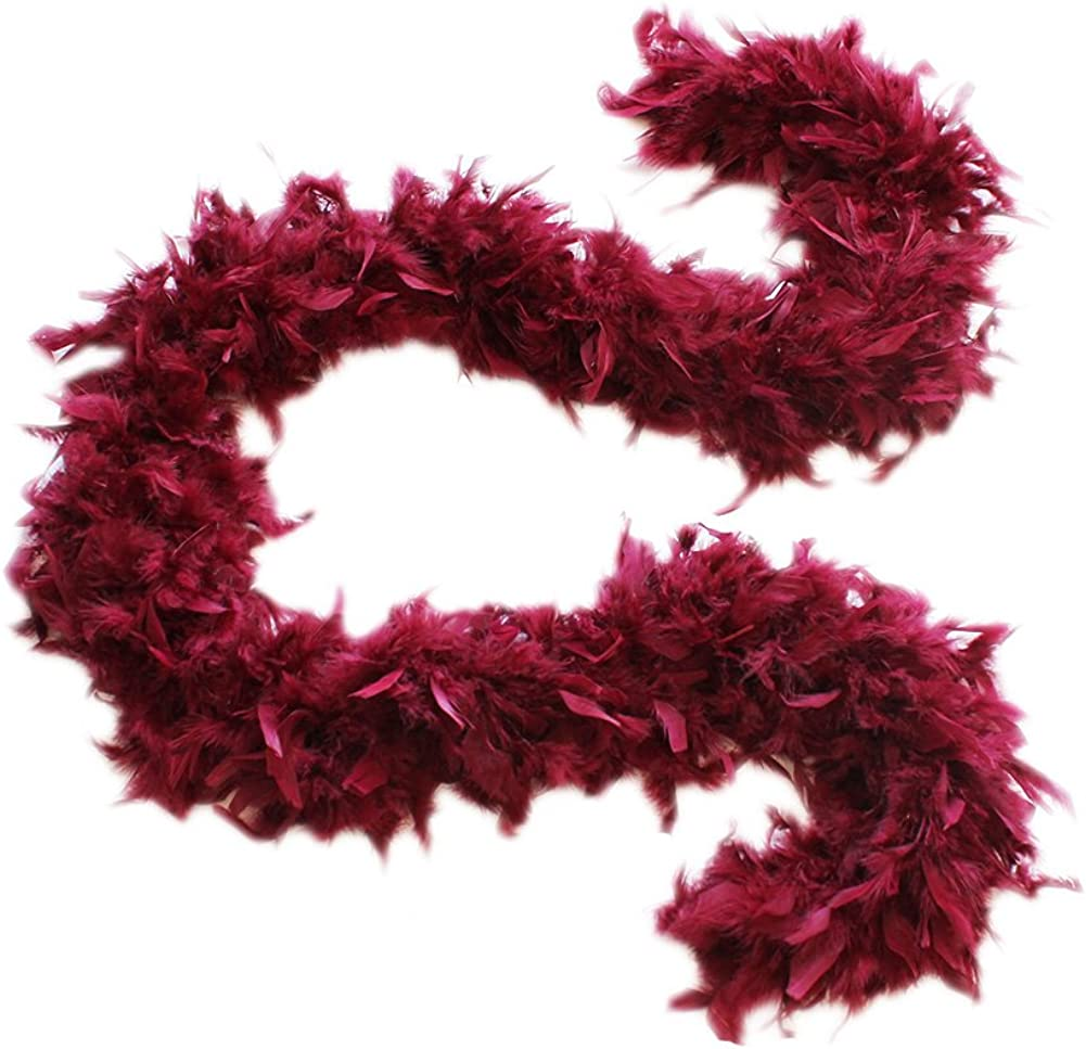 Burgundy Cynthias Feathers 100g Chandelle Feather Boa
