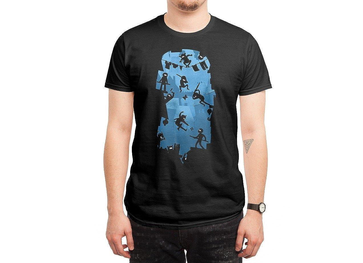 Amazon.com: DDLI Mens Ninja Kick Ass Clash Funny Tshirt ...