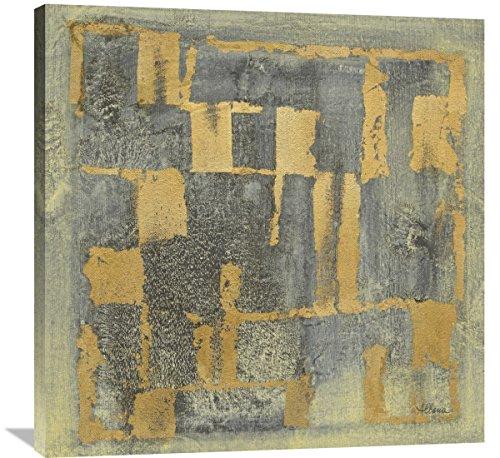 Global GalleryAlbena Hristova Gold Tapestry V Giclee Stretched Canvas Artwork 18 x 18