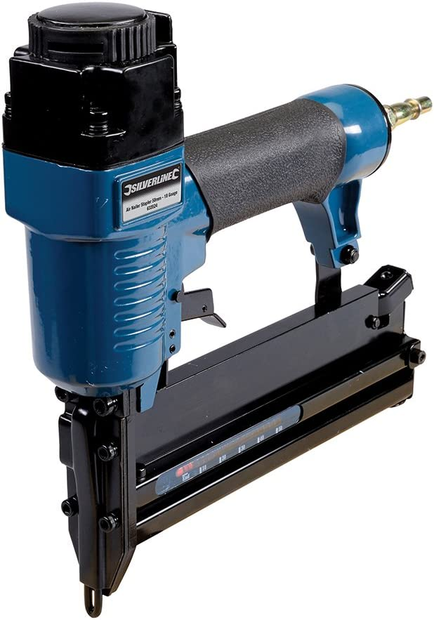 Silverline 633524 - Grapadora/clavadora neumática 50 mm Calibre 18