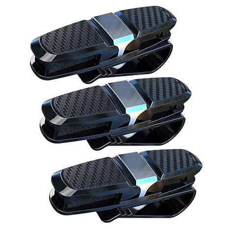 Auto Brillenhalterung Sonnenbrillenhalterung Sonnenblende-Clip f/ür Brille Schutzbrille Lesebrille Kreditkarte JZK 3 x Brillenhalter f/ür Auto Sonnenblende