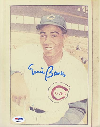 b35cca3302f ERNIE BANKS PSA DNA COA SIGNED CERTIFIED 8X10 PHOTO AUTHENTIC AUTOGRAPH at  Amazon s Sports Collectibles Store