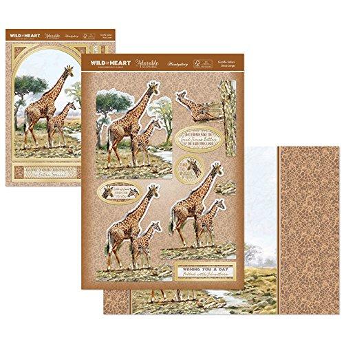 Giraffe Safari Deco-Large Set Card Kit WILDHEART902 Hunkydory Wild at Heart