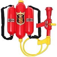 Sanwooden Interesting Toy Backpack Water Spray Toy Fireman Cosplay Backpack Water Spray Nozzle Extinguisher Outdoor…