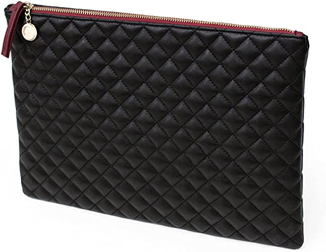Envelope Faux Leather Clutch Bag Oversized Small Trim Studded Party Cocktail