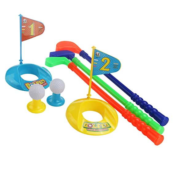 Kinder Minigolf Schläger Golfbälle Spielset Outdoor Spielzeug